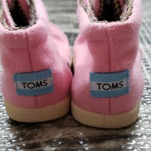 TOMS wool booties, size 4 baby
